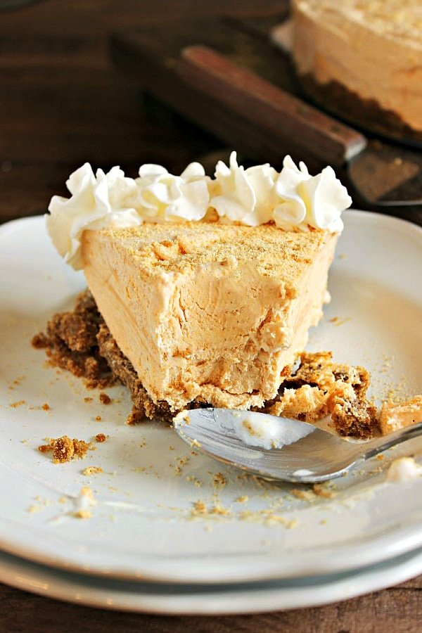 Frozen Pumpkin Pie Cheesecake - Make Ahead Thanksgiving Dessert Recipes