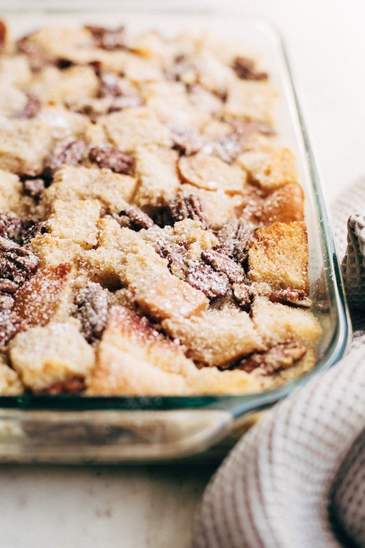 New Orleans Pecan Pie Bread Pudding - Thanksgiving Recipes You Can Make Ahead