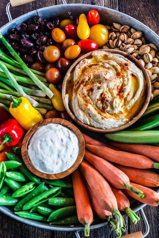 Fall Crudite Platter - Make Ahead Thanksgiving Appetizers