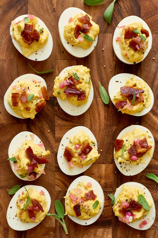 Thanksgiving Deviled Eggs - Make Ahead Thanksgiving Appetizers