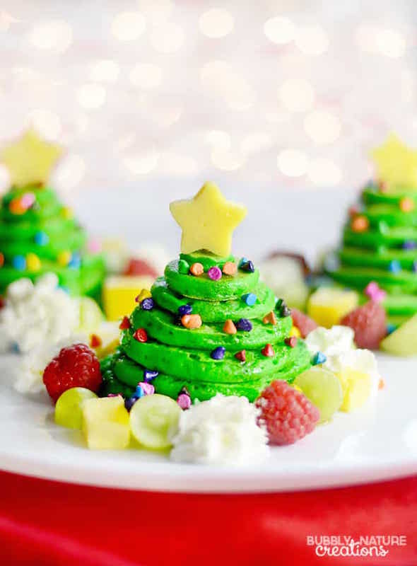 Christmas Tree Pancakes - Best Christmas Breakfast Recipes