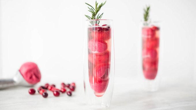 Christmas Cranberry Sorbet Rosé Mimosa Recipes