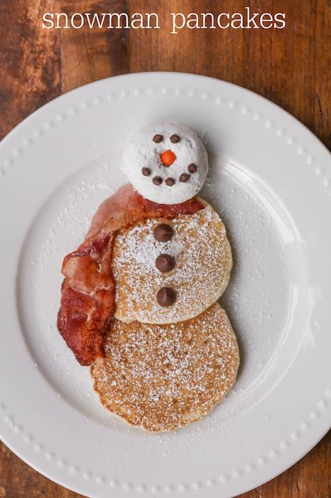 Snowman Pancakes - Best Christmas Breakfast Recipes