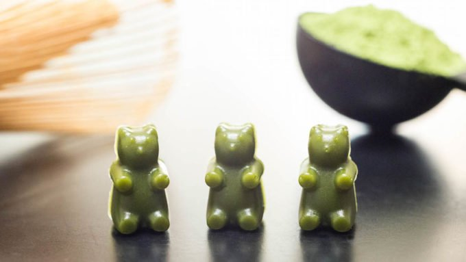 Homemade Matcha Gummy Bears Recipe