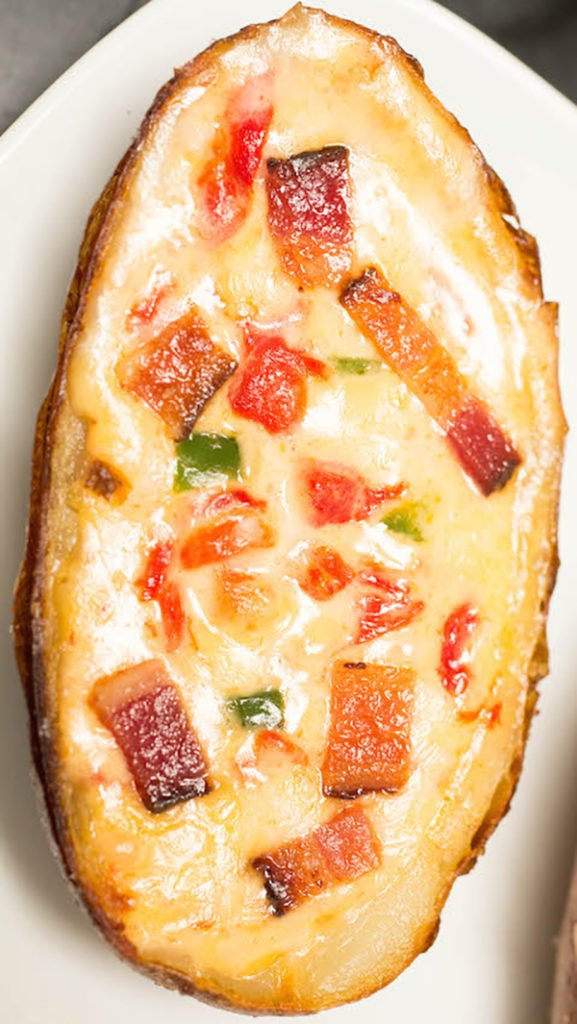 Pimento Cheese Potato Skin recipe with bacon