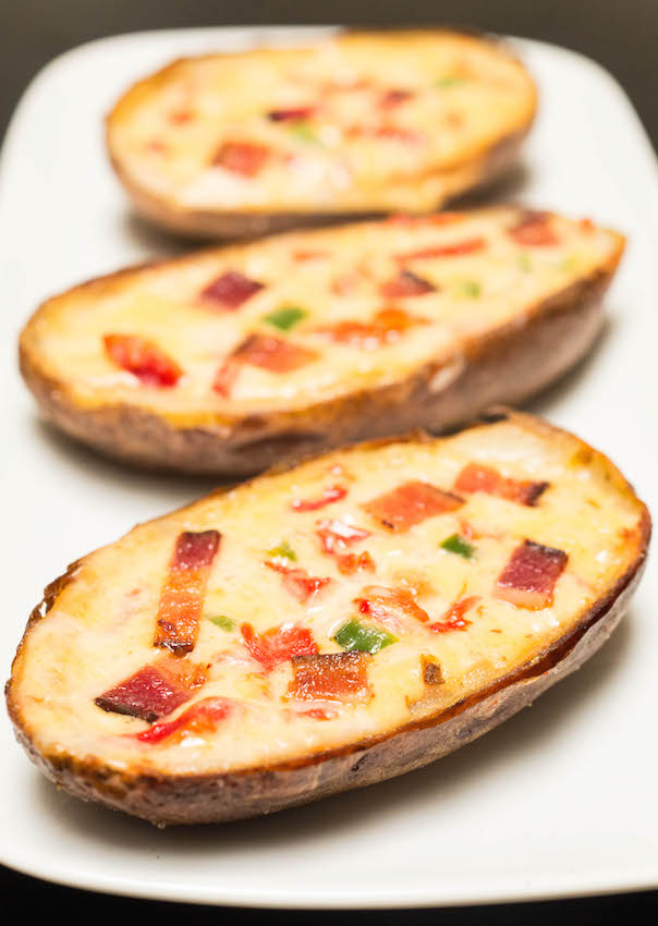 Pimento Cheese Potato Skins with Bacon