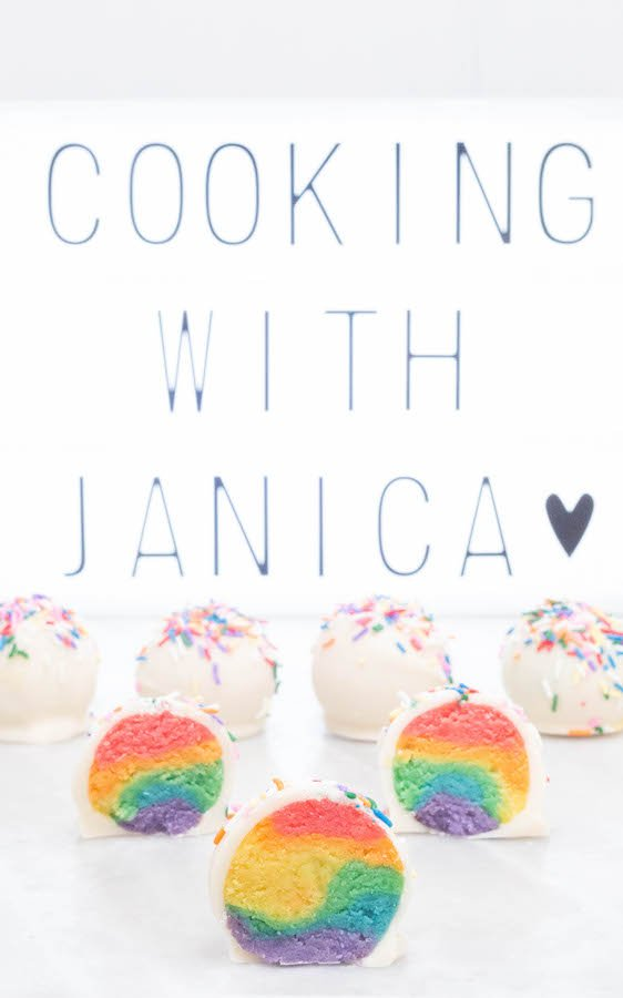 Rainbow Cake Truffles Dessert Recipe