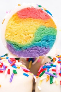 Rainbow Cake Truffles Recipe