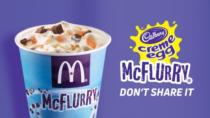 Cadbury Creme Egg McFlurry