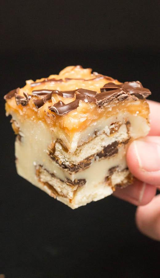 Samoas Girl Scout Cookie Fudge Recipe