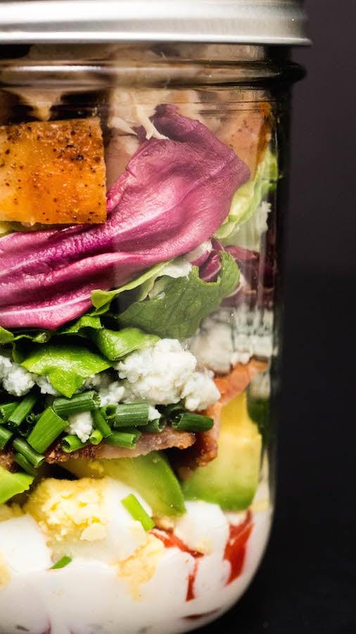 How To Make A Mason Jar Cobb Salad - Mason Jar Salad Recipe