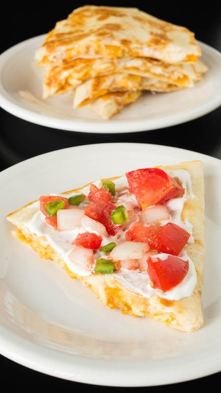 Copycat Taco Bell Quesadilla Recipe with Pico De Gallo