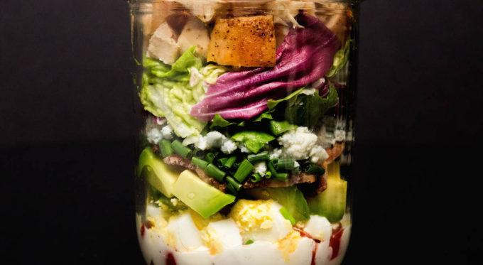 Mason Jar Cobb Salad Recipe