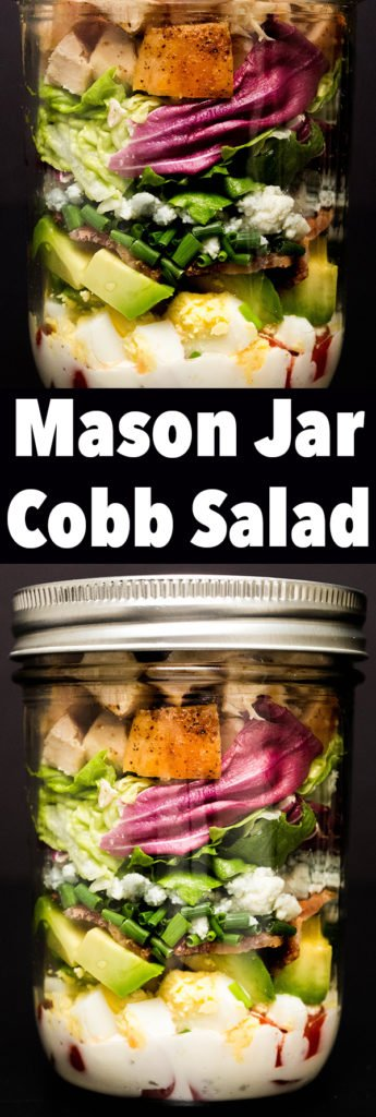 Mason Jar Cobb Salad Recipe - Meal Prep Recipes