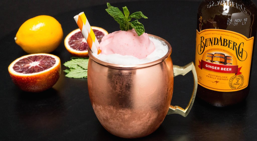 Blood Orange & Meyer Lemon Moscow Mule Float