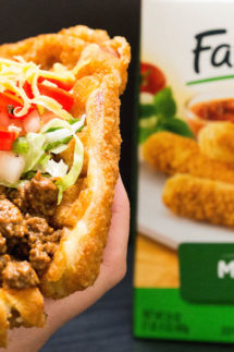 Waffled Mozzarella Stick Taco Recipe