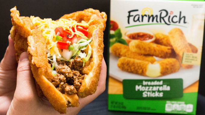 Waffled Mozzarella Stick Taco Recipe