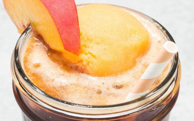 peach tea float recipe sweet tea with homemade peach sorbet