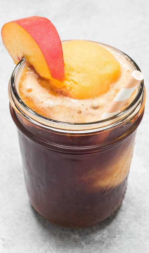 Sweet Tea Float with Peach Sorbet Ice Cream Recipe