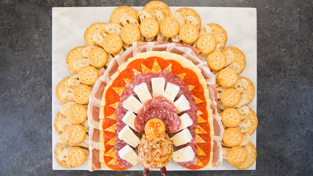 Thanksgiving Turkey Meat & Cheese Platter Recipe