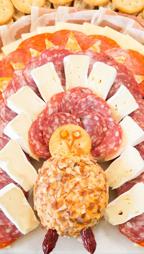 How To Make A Thanksgiving Turkey Meat & Cheese Platter