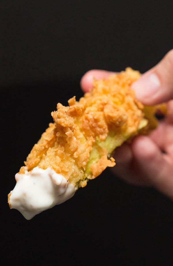 How To Make Chicken Fried Pickles