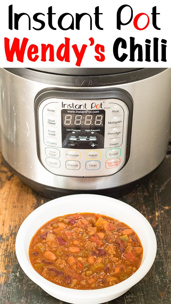 Instant Pot Wendy's Chili Recipe