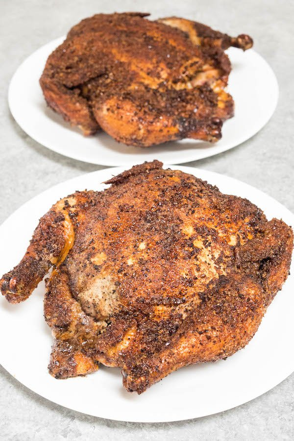 Coffee Rubbed Whole Smoked Chicken Recipe