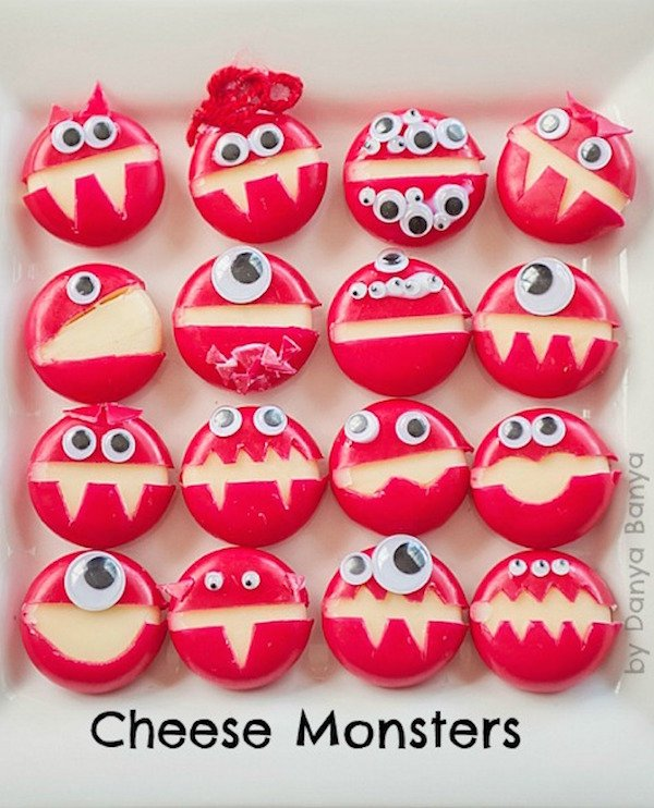 Babybel Cheese Monsters - Halloween Party Appetizers