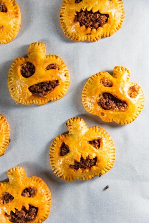 Spooky Chorizo Hand Pies - Halloween Appetizers