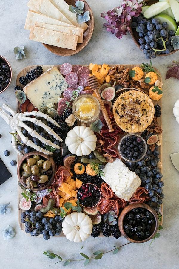 Halloween Meat & Cheese Board Appetizer