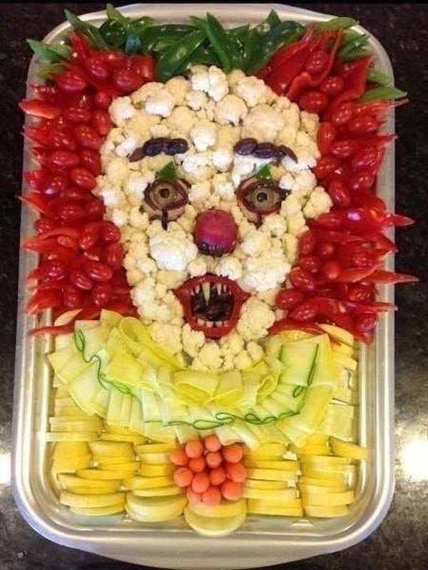 It Pennywise Vegetable Tray - Halloween Appetizers