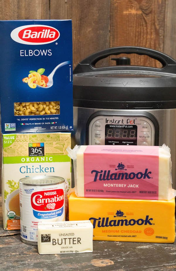 Instant Pot Mac & Cheese Ingredients