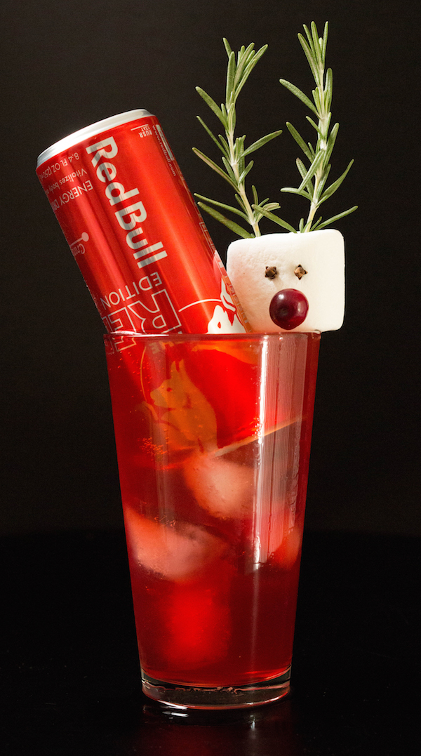 Rudolph the Red Bull Cocktail