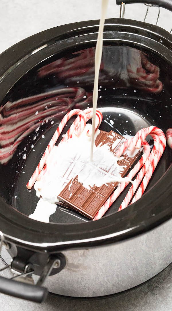 Crock Pot Peppermint Hot Chocolate Ingredients