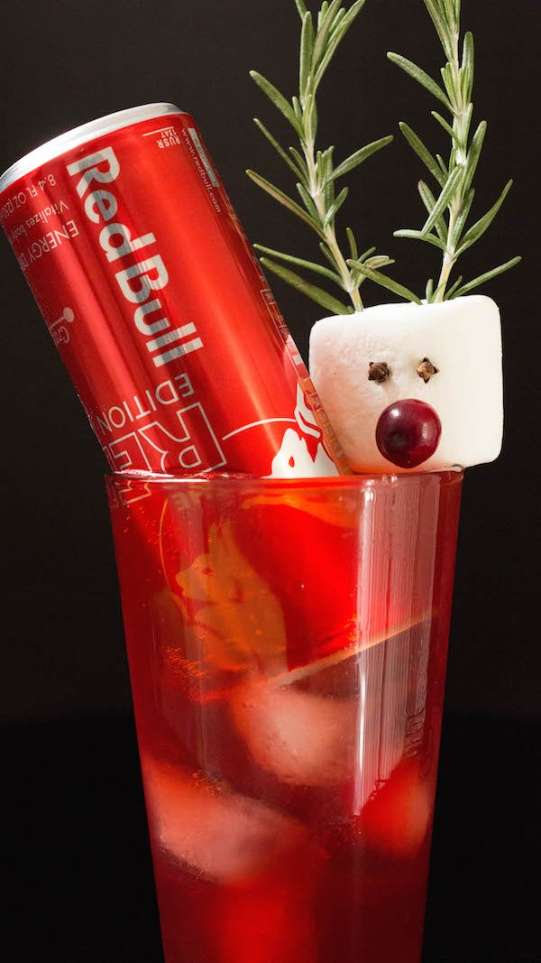 Rudolph the Red Bull Christmas Cocktail