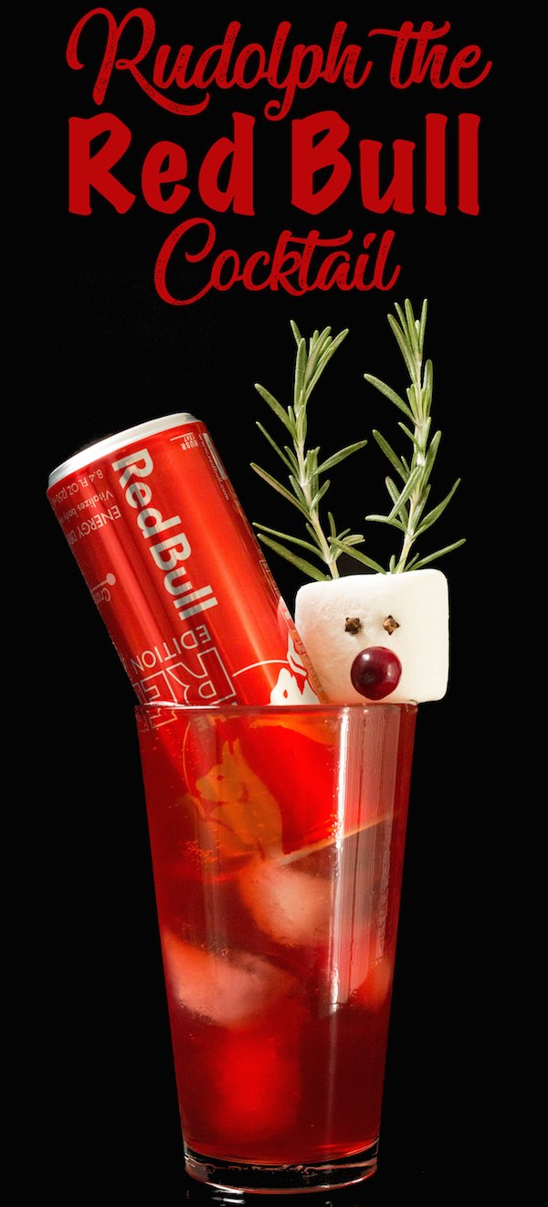 Rudolph the Red Bull Cocktail Christmas Drink