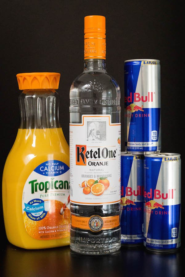 Red Bull Vitamin C Cocktail Ingredients